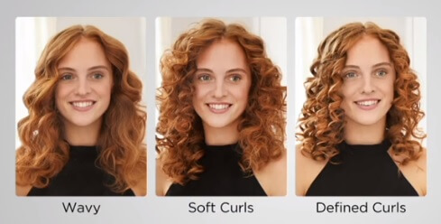 different hair curls styles